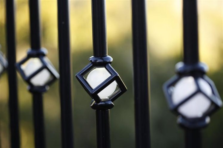 Single Cubic Lighted Baluster