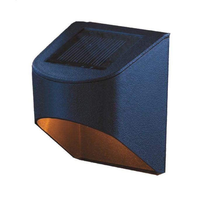 Solar Black Downcast Deck Light (2-Pack)