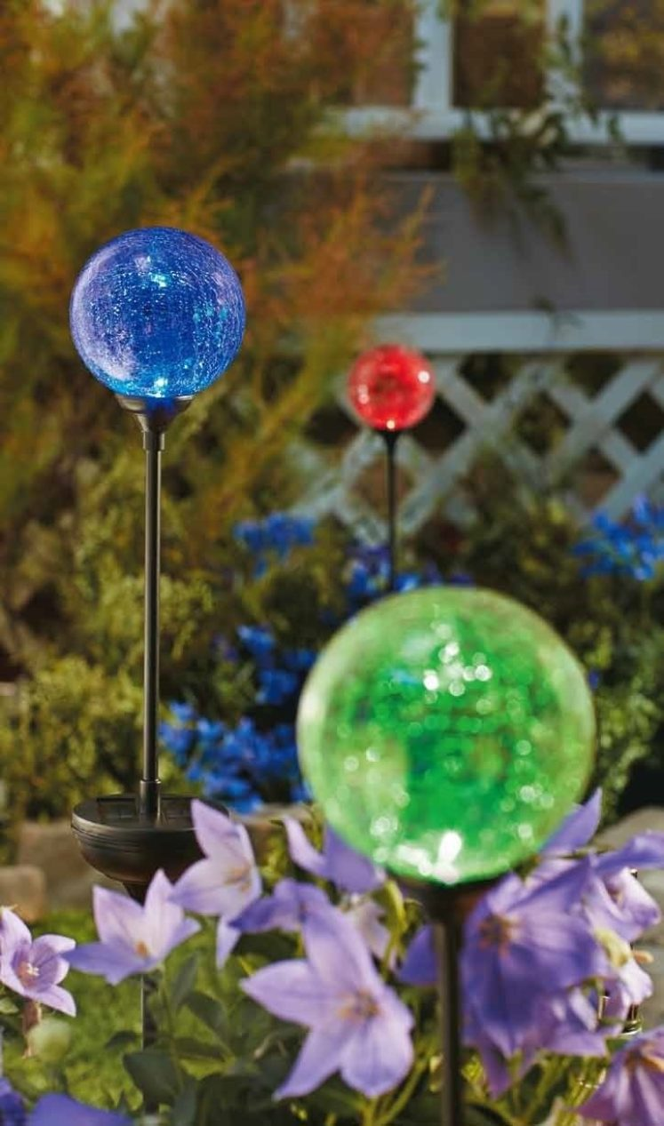Solar Crackle Ball Stake Light