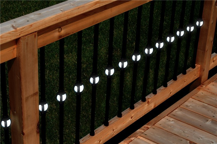 Single Cubic Lighted Baluster in Black or White Twin Pack Black, 32