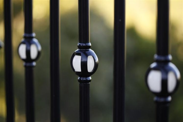 Single Orb Lighted Baluster