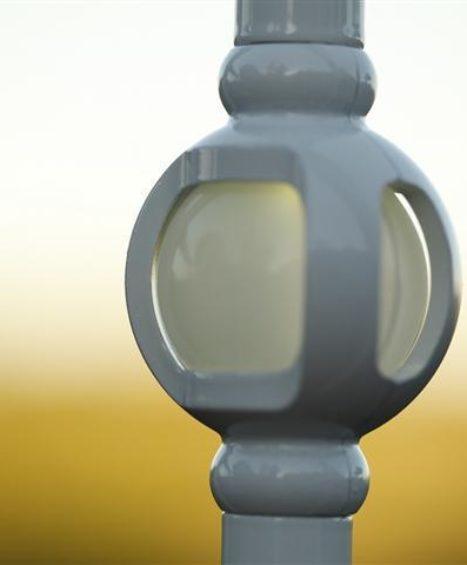 Single Orb Lighted Baluster