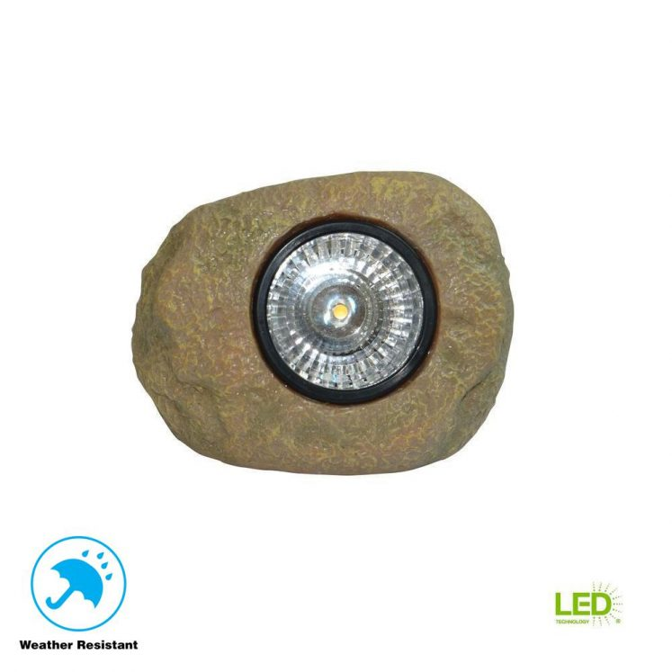Solar Rock Light w/Hand Painted Finish (5 lumens)